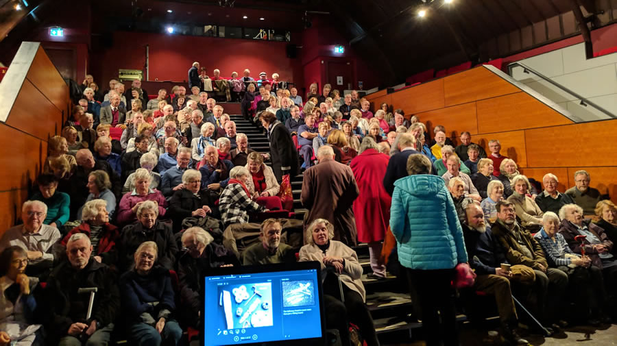 Audience for Dr Martin Goldberg presenting Buchan Lecture in Peebles Picture Credit Simon Gilmour